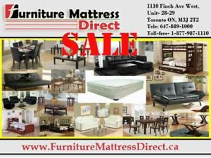 ***BLOWOUT SALE**** SOFA, SECTIONAL, FUTON, BEDS, DINING ALL FURNITURE & MATTRESSES ON SALE- UPTO 70% OFF**LOWEST PRICES