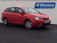 Seat Ibiza 1.6 TDI CR SE 5Dr Estate (red) 2013