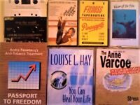FITNESS / HEALTH & WELL-BEING PRERECORDED CASSETTE TAPES, SINGLE AND DOUBLE SETS, SOME NEW / SEALED.