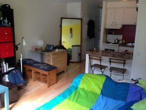 STUDIO TO RENT FOR AUGUST MONTH - CLOSE TO METRO SHERBROOKE