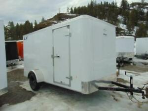 2018 ROYAL 6X12 Cargo Trailer w. Side Door and Rear Ramp