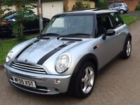 2005 MINI Cooper 1.6, Chili Pack, Panoramic Sunroof, 12 mth MOT, FSH, 104,000 miles, 1 lady owner