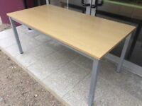 Maple 1.6m straight office desk