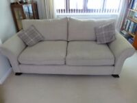 Lauren 3 Seater Sofa in a beige fabric in excellent condition