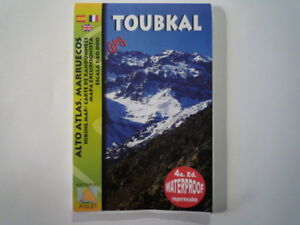 Mt. Toubkal hiking map by Editorial Piolet