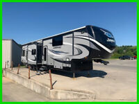 2016 Jayco Seismic 4250 Toy Hauler 45ft 3 Slide Outs 3 Awnings Sleeps 7 Queen Be