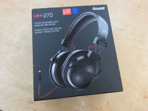 **NEVER OPENED** iSound HM-270 Over-Ear Headphones