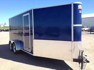 BLOW OUT - 2015 CJay 7x14 Enclosed (Indigo Blue) - 3307