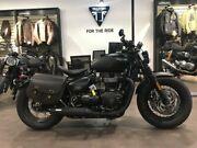 2018 Triumph Bonneville Bobber Black Road Bike 1200cc Collingwood Yarra Area Preview