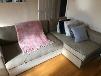 IKEA FRIHETEN Corner sofa-bed with storage, Hyllie beige - Preloved