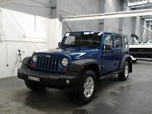 2010 Jeep Wrangler Unlimited JK MY09 Sport (4x4) Blue 6 Speed Manual Softtop Beresfield Newcastle Area Preview