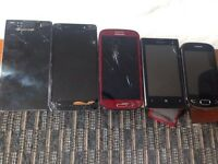 Bargain Joblot of Faulty/Spares Repairs Phones Cracked Charge Port Damaged Sony Samsung Huawei Nokia