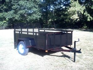 Trailer for motorcycle 4 x 10 nearly new with rails and canvas