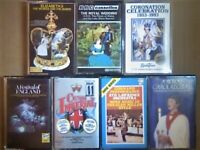 A-Z ABC HRH QUEEN ROYAL DIANA CHARLES CROWN CORONATION COMMAND PERFORMANC PRERECORDED CASSETTE TAPES