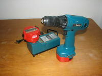 Makita Power Drill with Batteries and Charger