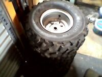 ATV Off Road 125 cc Quad Bike Wheels and Tyres x4 Aeon Quad off road vehicle wheels, used for sale  Sunderland, Tyne and Wear