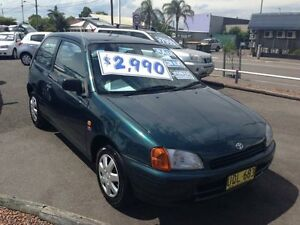 1997 Toyota Starlet EP91R Life Green 3 Speed Automatic Hatchback Broadmeadow Newcastle Area Preview