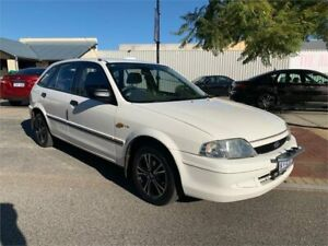 1999 Ford Laser KN GLXi White 4 Speed Automatic Hatchback