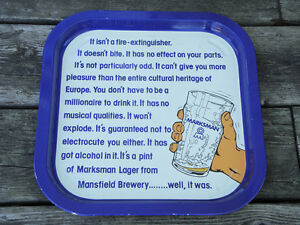 Marksman Lager Beer Tray
