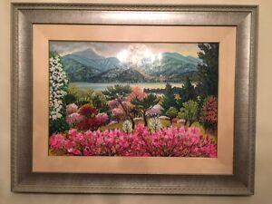 Original Landscape Painting with Silver Colour Frame