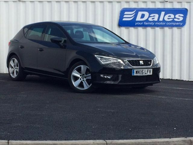 seat leon 1 4 tsi act 150 fr 5dr technology pack hatchback midnight black 2015 in redruth. Black Bedroom Furniture Sets. Home Design Ideas