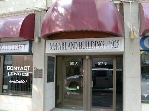 Bright and clean office spaces for rent in downtown Lethbridge.
