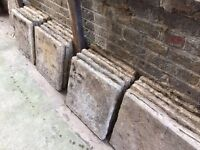 20 no reclaimed concrete paving slabs
