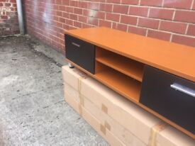 Teak and Black Tv uUnit