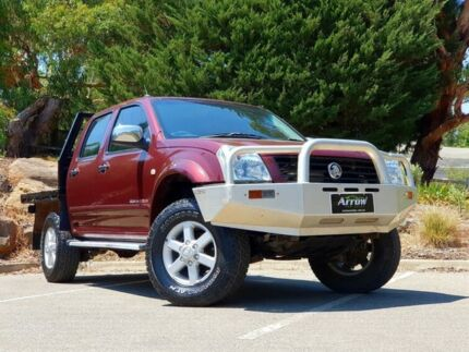 2005 Holden Rodeo RA MY05.5 LX Crew Cab Red 5 Speed Manual Utility Littlehampton Mount Barker Area Preview
