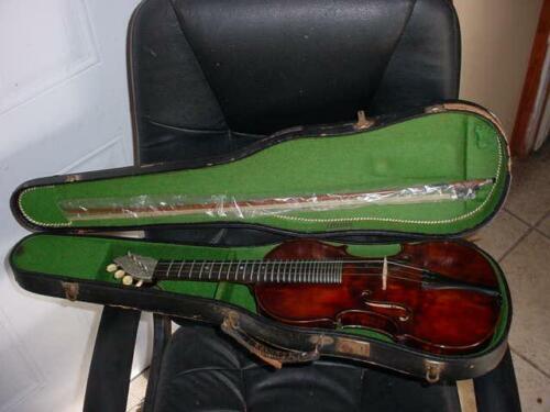 """Max Amberger Munchen Table Violin  24"""" Joseph Hofmann Zurich Anno 1911"""
