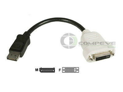 Dell Dvi Adapter Card - DisplayPort to DVI-D Video Card Adapter Cable Connecter Converter 23NVR Dell