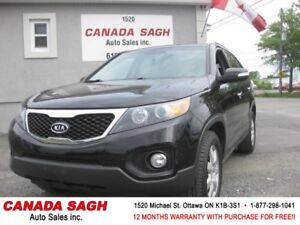2012 Kia Sorento, BCK UP CAM, 7 PASS, 12 M WRTY+SAFETY ONLY$8990