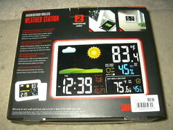 new Smart Gear indoor Outdoor Wireless weather station Alarm Clock Color 5939