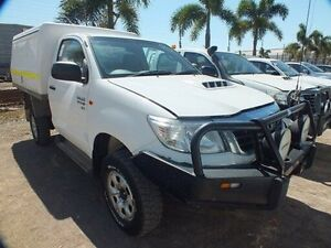2012 Toyota Hilux KUN26R MY12 SR (4x4) Glacier White 5 Speed Manual Cab Chassis Bohle Townsville City Preview