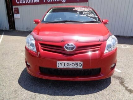 2011 Toyota Corolla ZRE152R MY11 Ascent Red 4 Speed Automatic Hatchback Tuggerah Wyong Area Preview