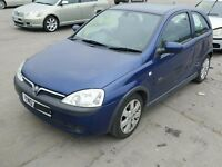 2003 Vauxhall Corsa C SXI Breaking Engine Boot Door Alloy Windscreen Seat...