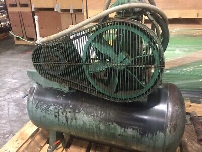 Dayton Electric Mfg. Speedaire 3z492 1983 Air Compressor With 60 Gal Melben Tank
