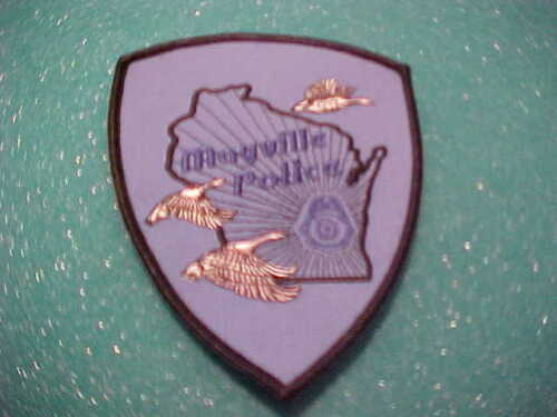 MAYVILLE WISCONSIN POLICE PATCH SHOULDER SIZE UNUSED