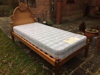 Luxury wood bed & mattress - v. lightly used. Over 1,000stg new. Sevenoaks or Brands Hatch collect