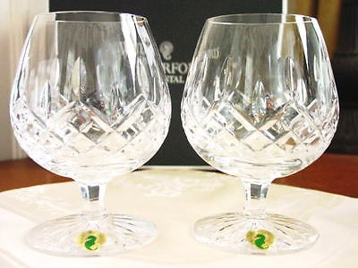 Lismore Brandy (Waterford Crystal LISMORE Balloon Brandy Snifters Glasses Set / 2 - NEW/BOX!    )