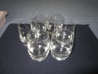6 heavy bottomed good quality glasses