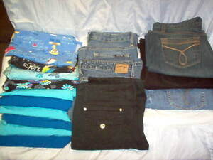 10 Womens Scrub Tops & Womens Jeans For Sale