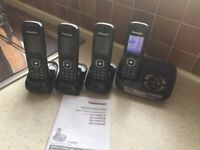 Panasonic Digital Cordless Answering System, 4 handsets