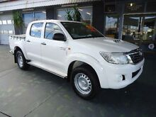 2012 Toyota Hilux KUN26R MY12 SR (4x4) White 4 Speed Automatic Dual Cab Pick-up Hamilton Newcastle Area Preview