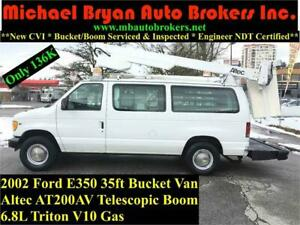 2002 FORD E350 35FT BUCKET VAN *ONLY 136K* TRITON V10 GAS *RARE*