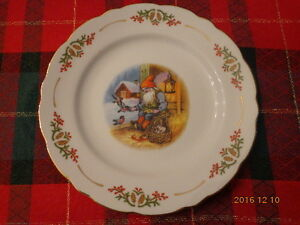 Christmas Elf Plates by Christineholm Porcelaine