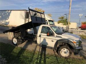 2014 Ford F-550 - XLT - Flat Bed - 12 Ft Dump Bed - 4x4
