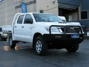 2013 Toyota Hilux KUN26R MY12 SR (4x4) White 5 Speed Manual Dual Cab Chassis Condell Park Bankstown Area Preview
