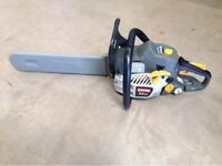 RYOBI PETROL CHAINSAW, IMMACULATE CONDITION WITH CARRY BOX