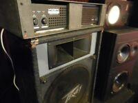 2 x peavey es-15 speaker + cam 300w amp